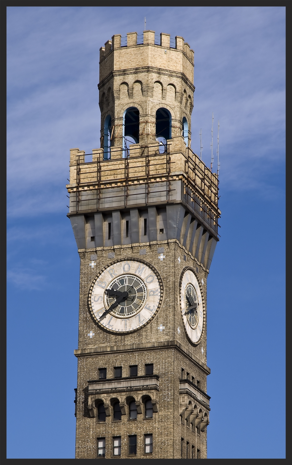 The Emerson Bromo-Seltzer tower is a distinguishing feature of Baltimore's skyline.