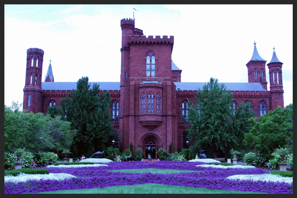 Designed by James Renwick Jr., the Smithsonian Castle is a beautiful example of Romanesque style architecture.