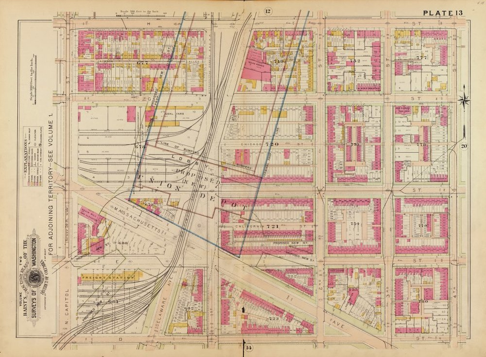 The footprint of Union Station would land hard on Swampoodle - the neighborhood could not endure the massive construction project intact.