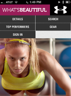 Under Armour's mobile app gathers vital stats from users.