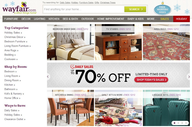 Staples' Marketplace Partner, Wayfair.com