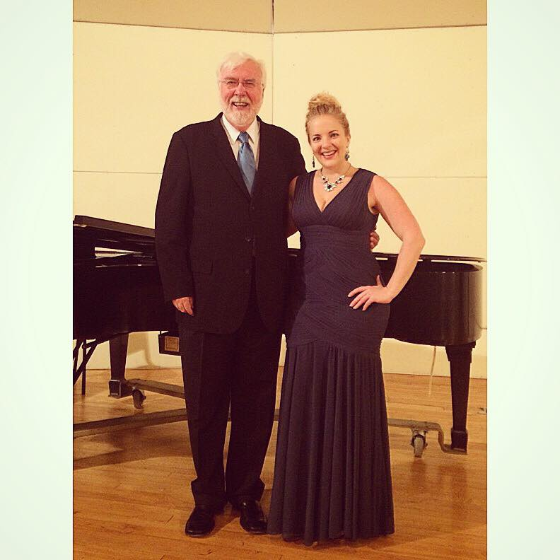 After my solo recital at Berry College with the Director of Choral Activities, Harry Musselwhite