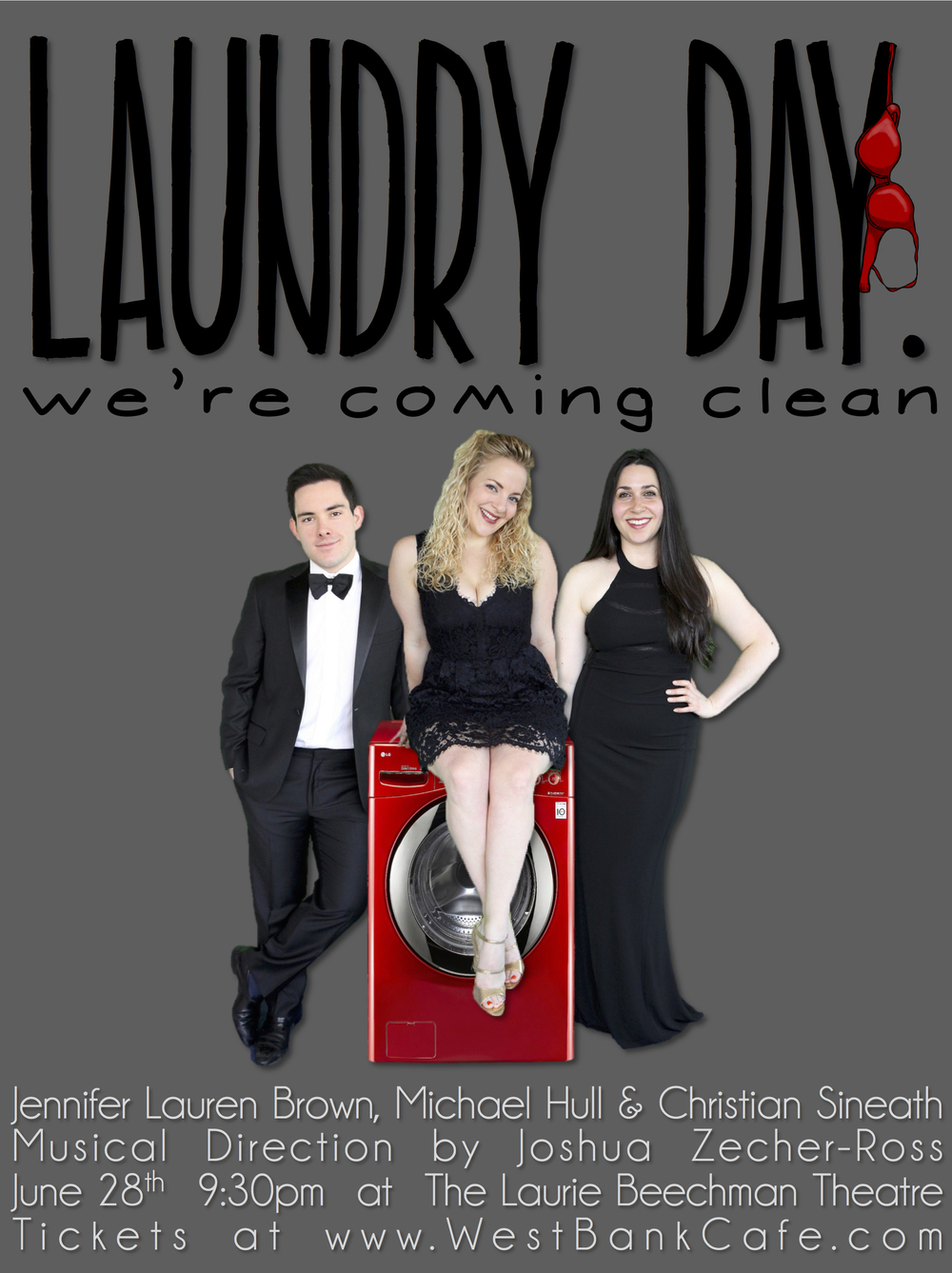 Laundry Day: We're Coming Clean poster at The Laurie Beechman Theatre