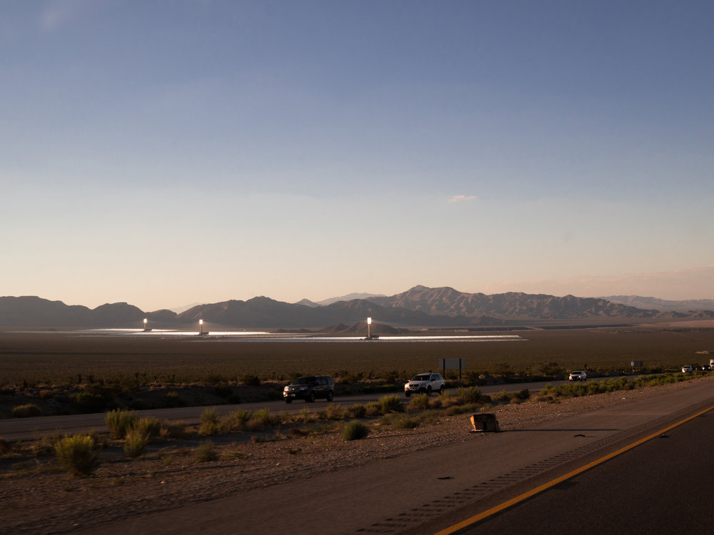 Approaching Las Vegas.