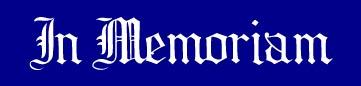 Click on name for more info and memories Cliquez sur le nOm pour détails et souvenirs