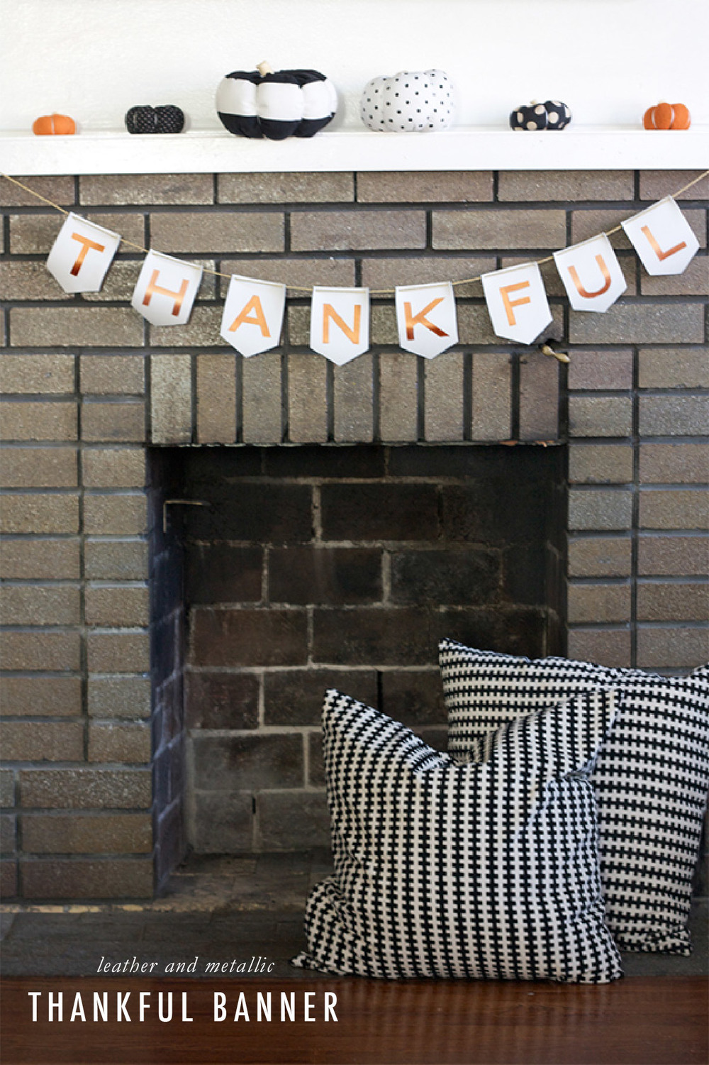 """Thankful"" Leather Banner 