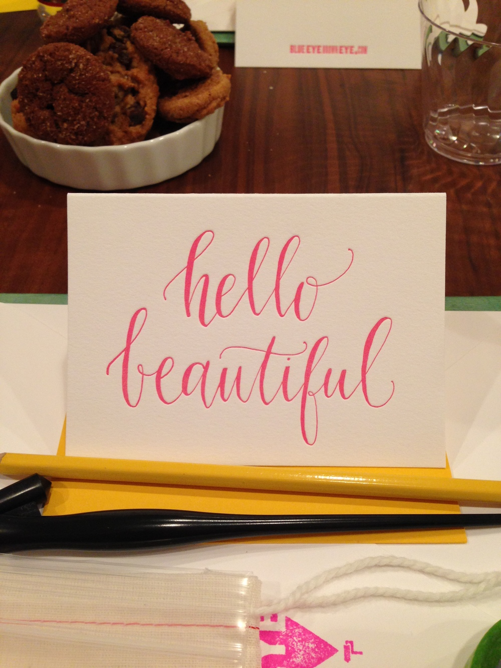 Calligraphy Class with Lauren Essl of BlueEyeBrownEye