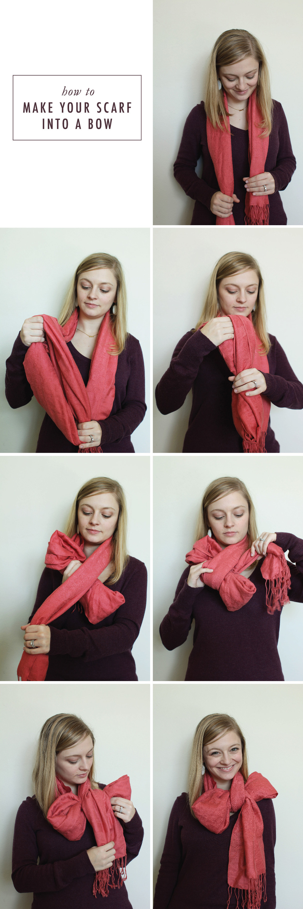 How To Make Your Scarf Into a Bow | That's Pretty Ace
