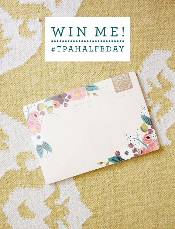 Win me! Rifle Paper Co. planner from That's Pretty Ace