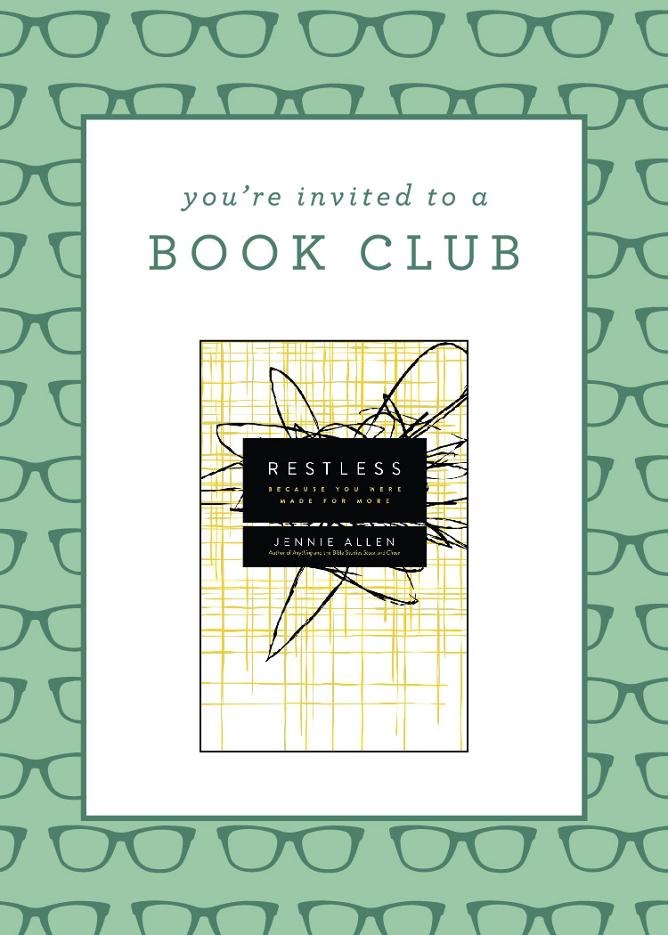 """Want to join a book club? Jennie Allen's """"Restless"""" 