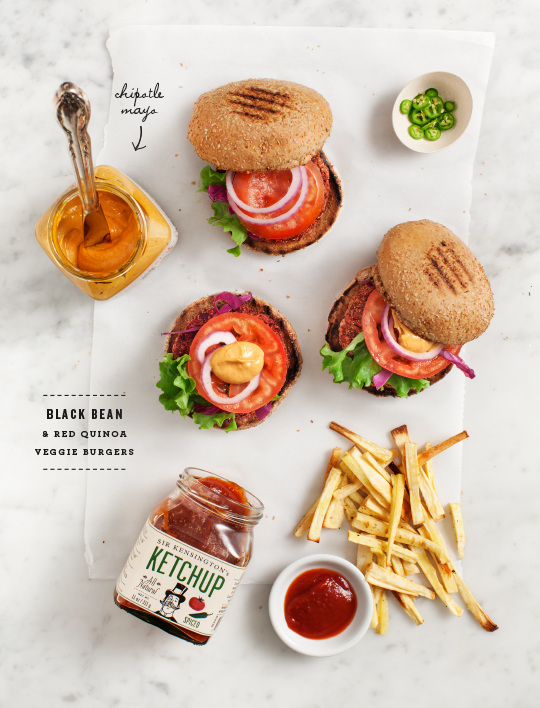 Black Bean Quinoa Burgers by Love & Lemons | That's Pretty Ace