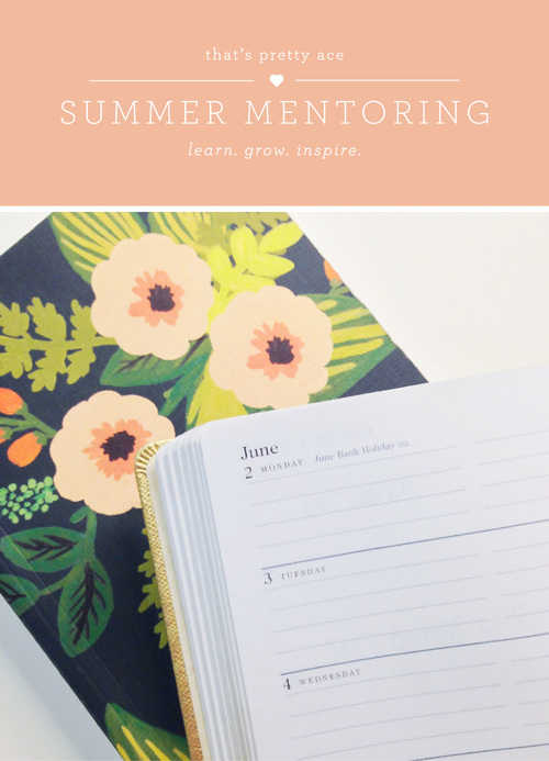 Summer Mentoring | That's Pretty Ace