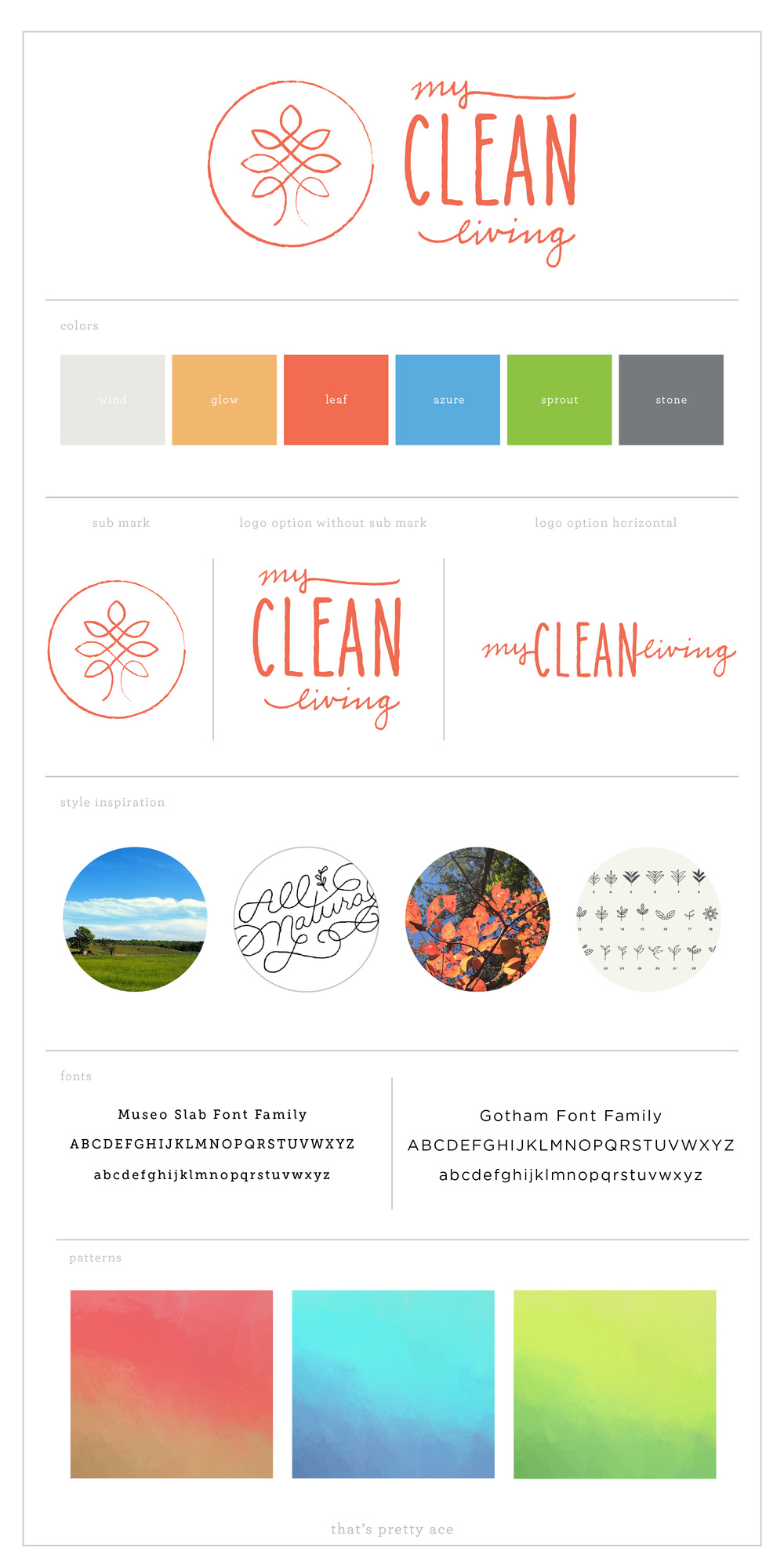 my clean living brand elements - that's pretty ace