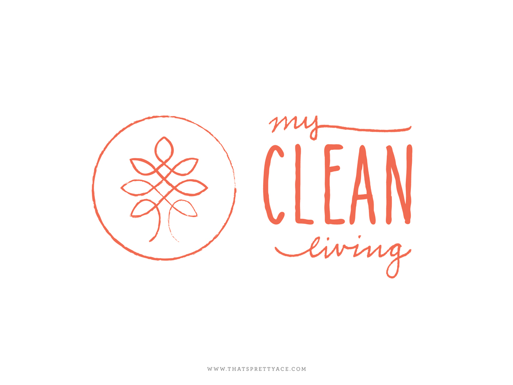 new logo my clean living - that's pretty ace