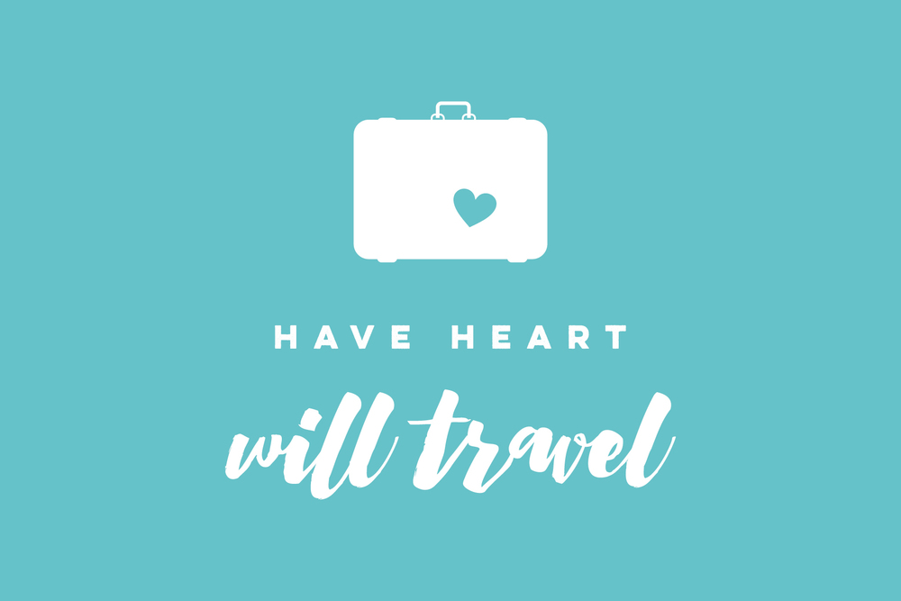 have heart will travel branding - that's pretty ace