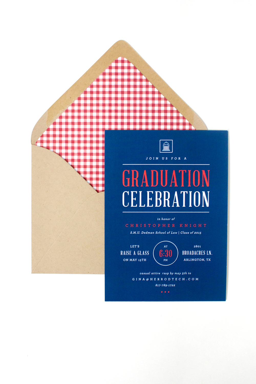 Law School Graduation Party Invitations - that's pretty ace