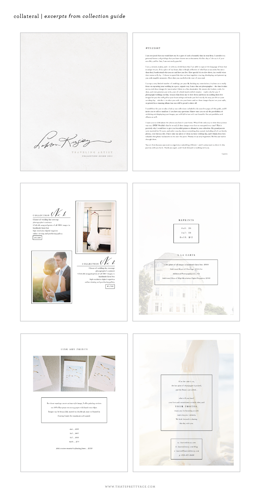 Lauren Kinsey Photography branding - that's pretty ace