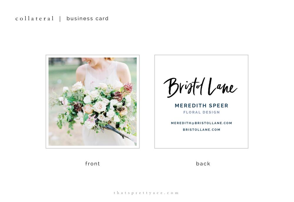 Bristol Lane - Business Card Design