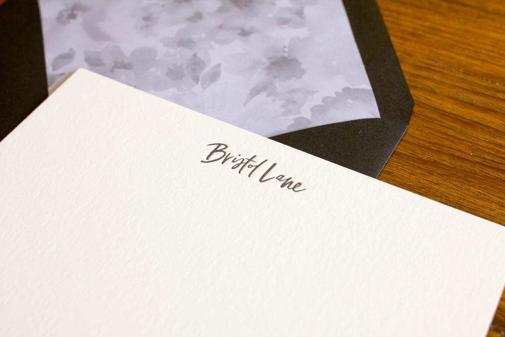 Bristol Lane - Letterpress Notecards and Custom Liner