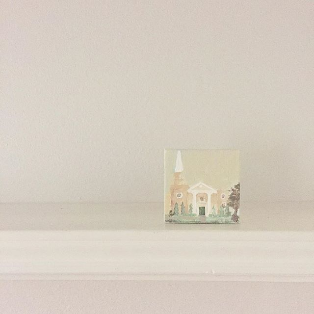 New house, new city, new chapter. We're officially moved back to Dallas and I love that the first item in our little cottage is a painting of our church home back in Mississippi. Thankful for this sweet reminder of God's faithfulness. Here's to the next chapter!