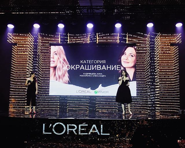 Thank you for being the most perfect partner in crime, my dear @anutakudryash, we did it and will do even more! #loreality #luvmyjob #lorealandme