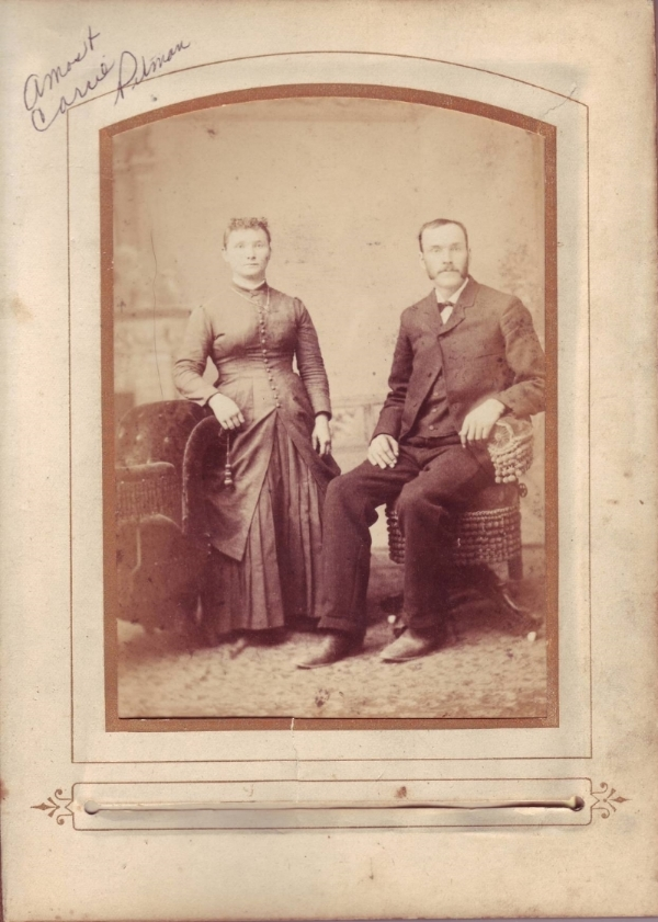 Amos and Carrie Pitman circa 1885