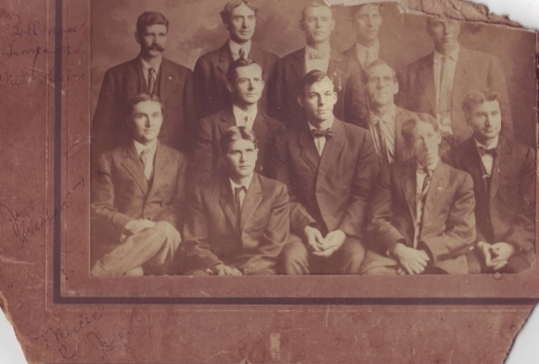 Jesse Pitman, bottom left, member of a Mercer County Jury circa 1910(?)