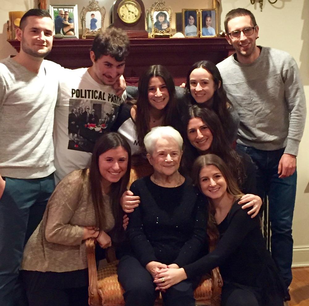 Betty Bosswick with her grandchildren.