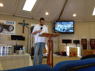 Eric preaching at KCN for the first time.