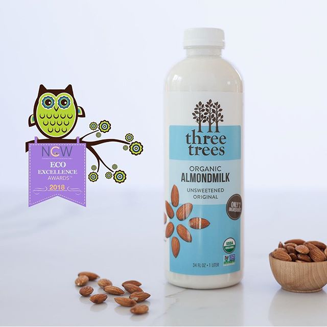 *Three Trees Giveaway*  Vote for Three Trees in the 2018 Eco-Excellence Awards and win 2 bottles of our delicious, pure almondmilk! .  To enter:  1- Like this post 2- Follow @threetreesfoods  3- Vote for us under the category Nutrition/Beverages in the 2018 Eco-Excellence Awards! (link in bio)  or use: http://bit.ly/Vote3Trees 4- Tag a friend in the comments . . . .  Enter as many times as you'd like by tagging one friend per comment and making sure to vote! Giveaway closes at 11:59 pm on August 31st, and the winner will be announced on September 1st. You must be 18 or over, reside in the US and have a public account to participate. . Not sponsored by Instagram or Facebook.  Let's spread the word about clean food together! . . . #ecoexcellenceawards