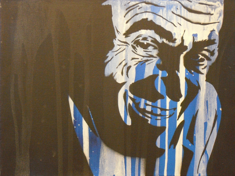 """The Joker"" - by Jesse Weiman, based on the ""Going his way?"" photograph"