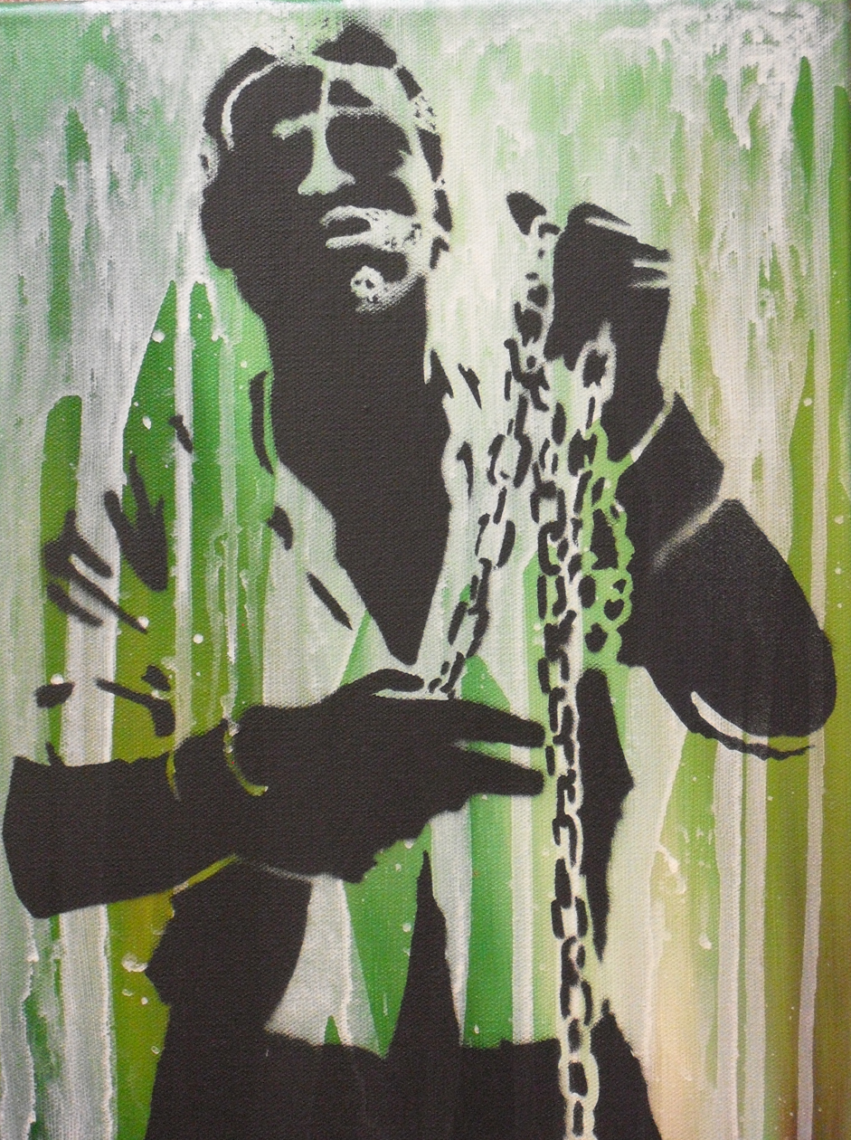 """Nat Turner"" - by Jesse Weiman, based on a Virginian-Pilot archival photo in an article about the Nat Turner Easterliturgy"