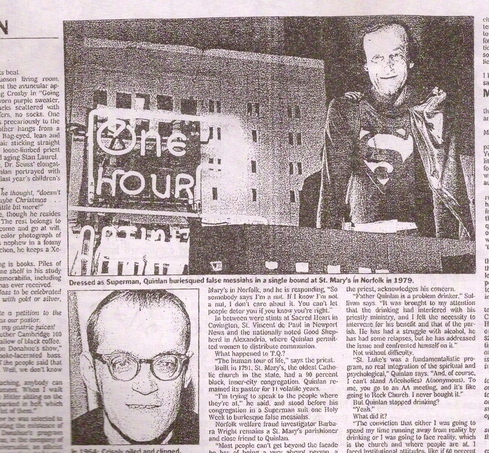 Virginian-Pilot article on TQ's Superman Liturgy