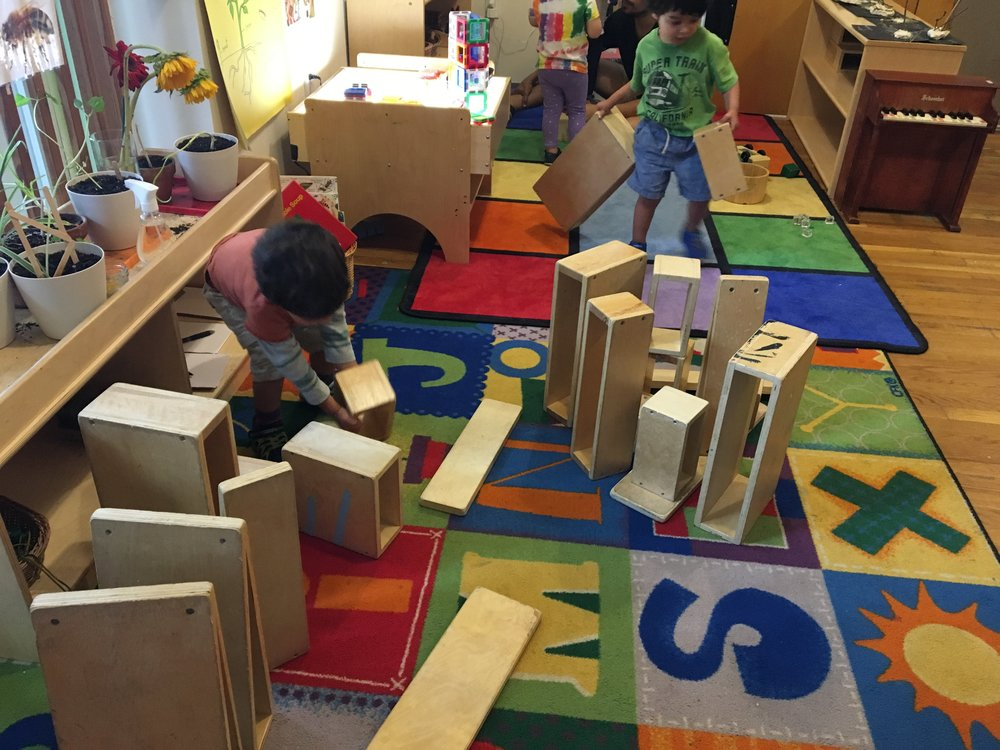 - Cooperative Block Play: Social, Language, Size, Shape, Taller, Shorter