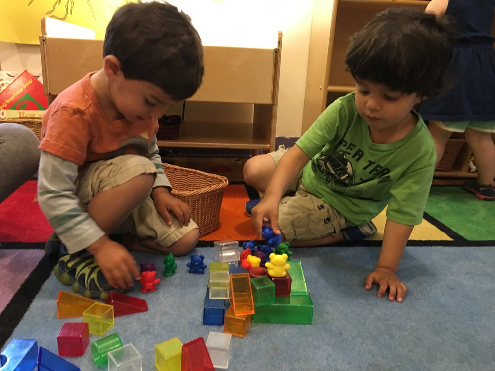 - Building and Teddy Bears: Shape Recognition, Color Recognition, Dramatic Play, Cooperative Play, Language