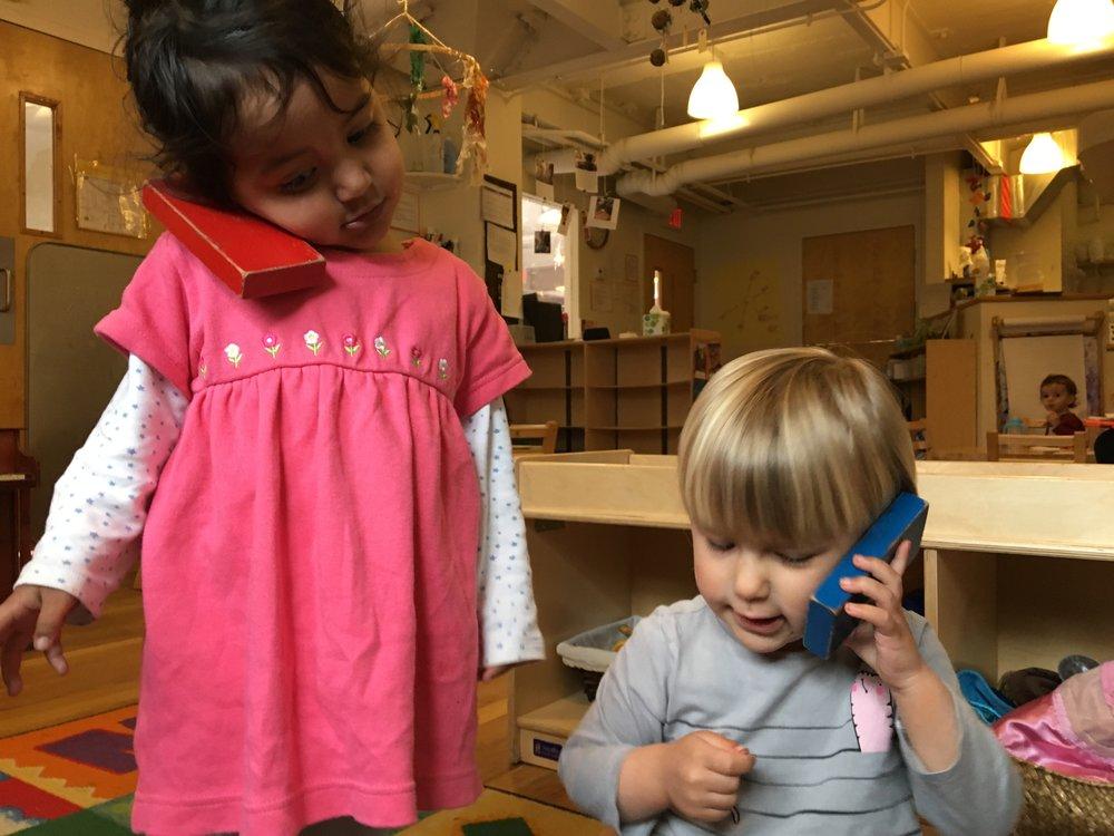"""""""Hello"""" - """"Telephone Play"""""""