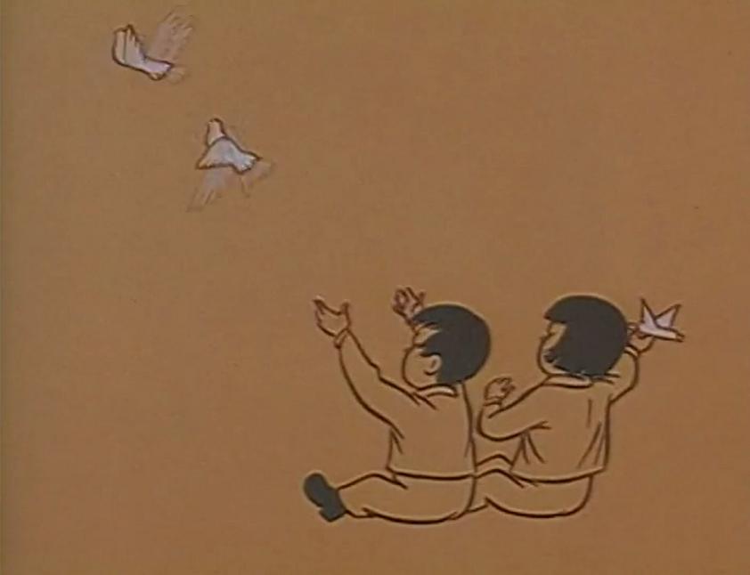 Vietnamese children create doves of peace