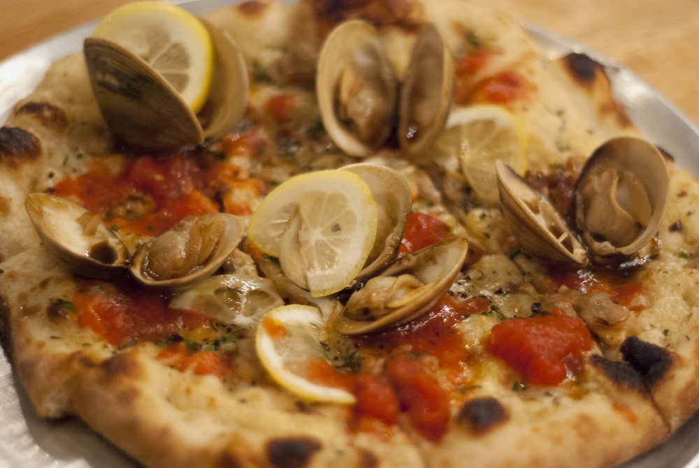 Cherrycreek Clam pizza