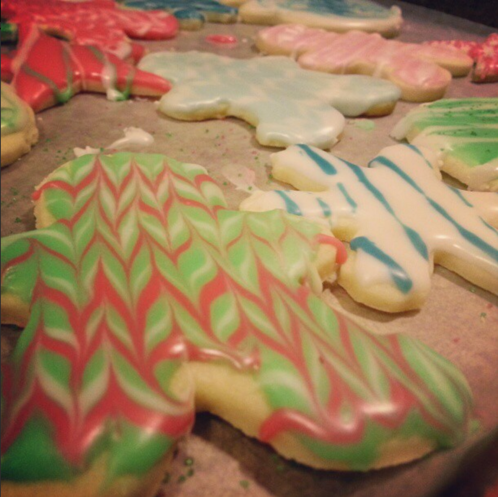 Christmas cookies made with my best friend