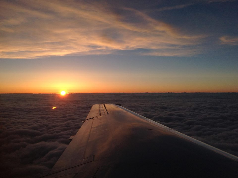 A picture I snapped on a recent flight for my new job. I feel so fortunate for the opportunity to travel for work.