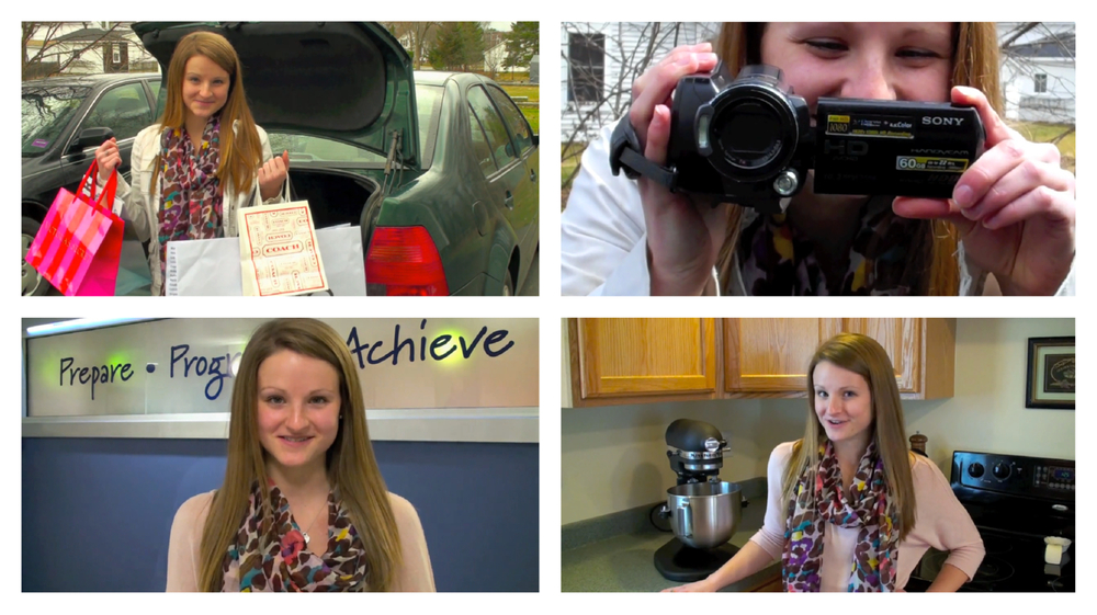 Scenes from my Young & Free Maine Spokester Application video (Remember when I was a brunette?)