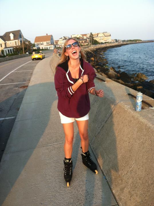 rollerblading at Kennebunk Beach back in 2010