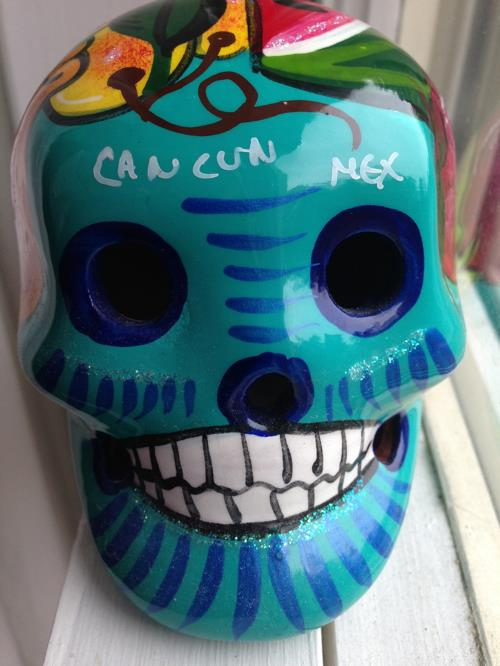 A sugar skull I bought on a trip to Cancun, Mexico