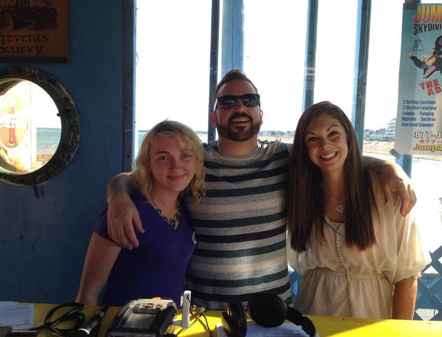 Young & Free Maine Spokester Malorie Lavoie (far right) with Rob Steele & Holly from Q97.9 at Old Orchard Beach