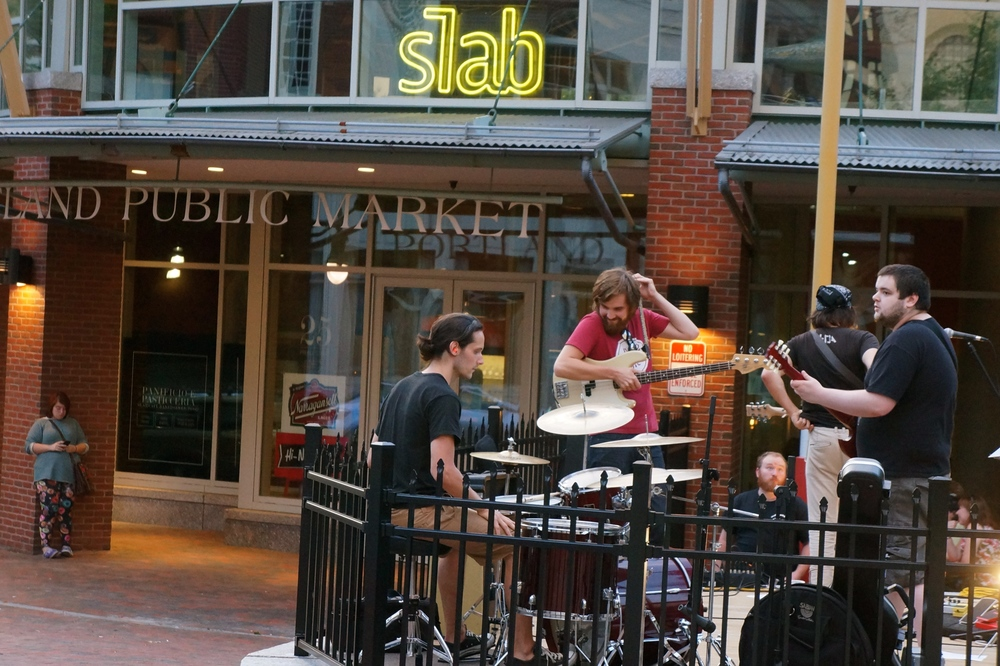 Live music at the Slab on 25 Prebble Street, August 8, 2014.