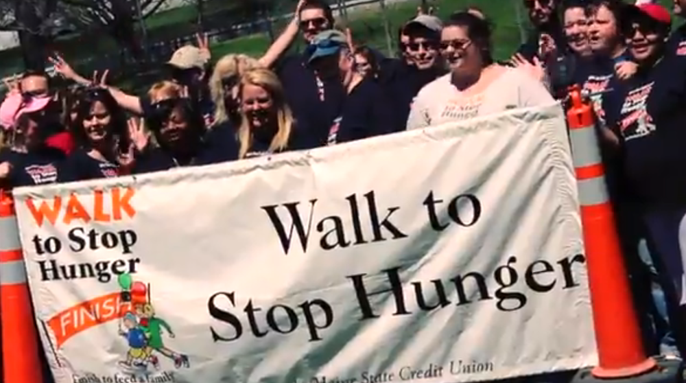 Walk to Stop Hunger with Maine State Credit Union, 2013.