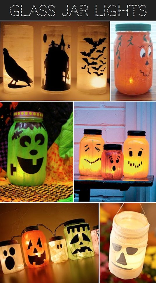 Use jars, candles, tissue paper, decoupage, tape, and permanent markers!