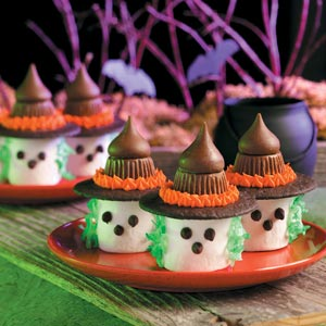 Marshmallow witches, fast and easy to make! www.tasteofhome.com