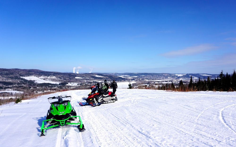 Northern Maine snowmobile trails, 2015.