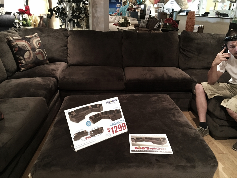 This isn't even the couch we bought, the one we chose was even MORE expensive!!!